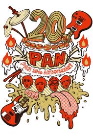 ロックバンド「PAN」20周年ロゴビジュアル