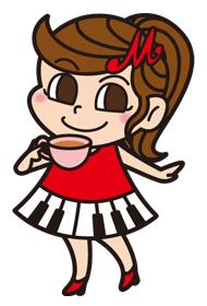 ピアニスト「Maite」キャラクター「てぃーまいちゃん」デザイン